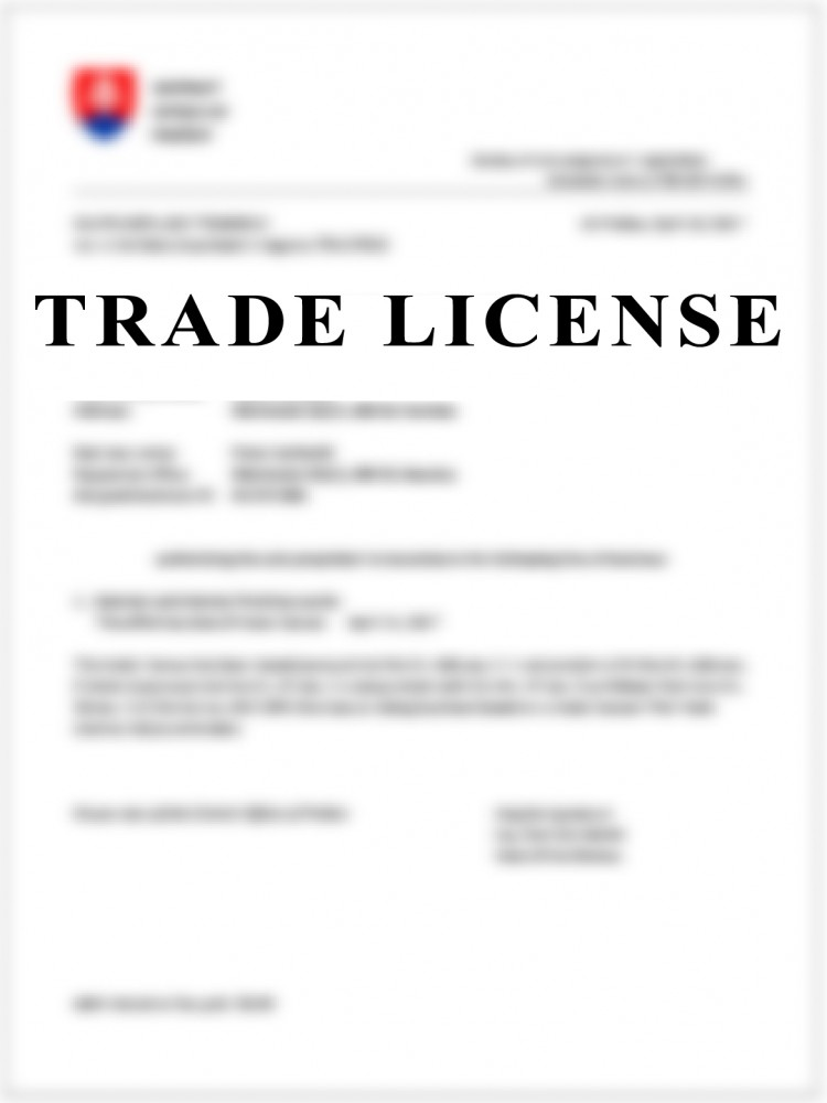TRADE LICENCE