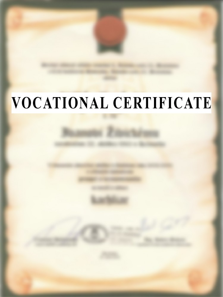 VOCATIONAL CERTIFICATE